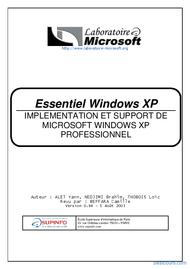Tutoriel Essentiel Windows XP 1