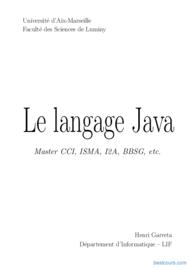 Tutoriel Le langage de programmation Java 1