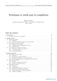 Tutoriel Techniques et outils pour la compilation 1