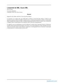 Tutoriel Cours L'essentiel de XML 2