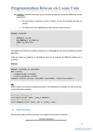 Tutoriel Programmation Réseau en C sous Unix 2