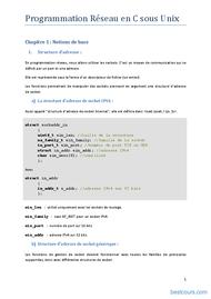 Tutoriel Programmation Réseau en C sous Unix 1