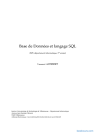 Tutoriel Base de Données et langage SQL 1
