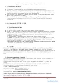 Tutoriel XHTML et CSS 2