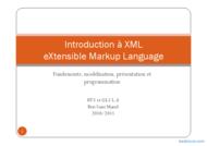 Tutoriel Introduction à XML 1