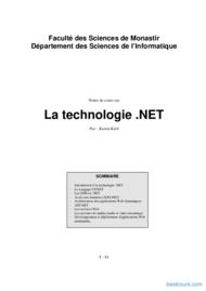 Tutoriel La technologie .NET 1