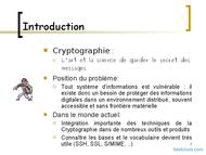Tutoriel Cryptographie appliquée 2