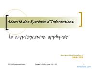Tutoriel Cryptographie appliquée 1