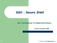 Tutoriel SSH - Secure SHell 1