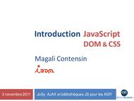Tutoriel JavaScript, DOM et CSS 1