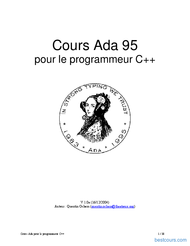 Tutoriel Cours Ada 95 1