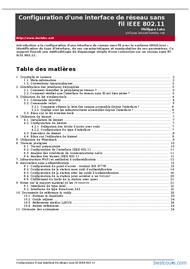 Tutoriel interface réseau sans fil IEEE 802.11 1