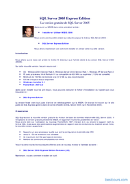 Tutoriel SQL Server 2005 Express Edition 1