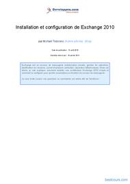 Tutoriel Exchange serveur 2010 1