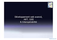 Tutoriel Web avancé,.NET et J2EE 1