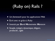Tutoriel Introduction Ruby on Rails 2