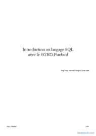 Tutoriel SQL avec Firebird 1