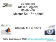 Tutoriel Cours MATLAB 1