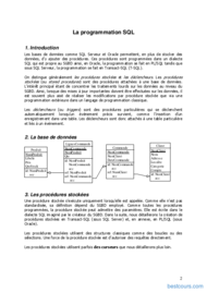 Tutoriel Programmation SQL 2
