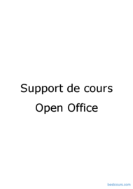 Tutoriel Open Office Writer 1