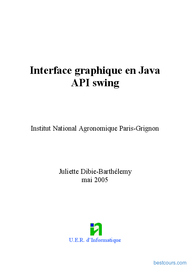 Tutoriel Java  API swing graphique 1