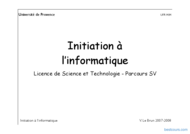 Tutoriel Initiation à  l'informatique 1