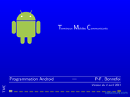 Tutoriel Programmation Android 1