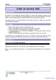 Tutoriel Serveur mail sous Linux 1