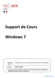 Tutoriel Support de Cours Windows 7 1