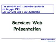 Tutoriel Services Web 2