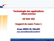 Tutoriel Technologie des applications client-serveur 1