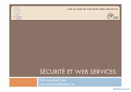 Tutoriel Sécurité et web services 1