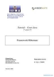 Tutoriel Framework Hibernate 1
