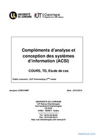 Tutoriel Analyse des systèmes d'information 1