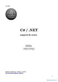 Tutoriel C# / .NET 1