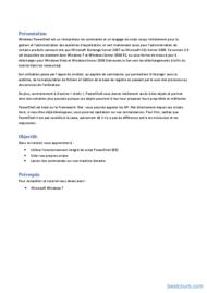 Tutoriel Découverte de PowerShell- Tutoriel 2
