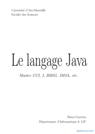 Tutoriel Le langage Java 1