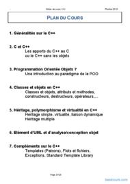 Tutoriel Programmation par objets langage C++ 2
