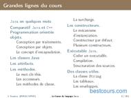 Tutoriel Les bases du langage Java 2