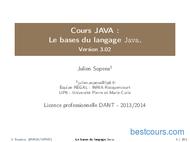Tutoriel Les bases du langage Java 1