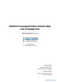 Tutoriel Initiation à la POO avec le langage Java 1