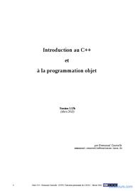 Tutoriel Introduction au C++ et POO 1