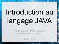 Tutoriel Introduction au langage JAVA 1