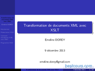 Tutoriel Transformation XML avec XSLT 1