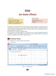 Tutoriel Les bases d'Excel 1