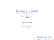 Tutoriel Formation C++ avancée 1