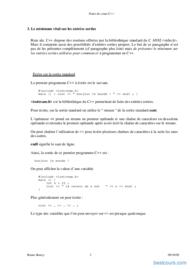 Tutoriel Polycopie de C++ 2