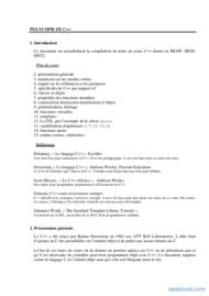 Tutoriel Polycopie de C++ 1