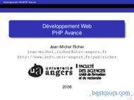 Tutoriel Developpement Web PHP Avancé 1