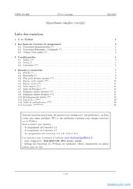 Tutoriel Algorithmes simples (corrigé) 1